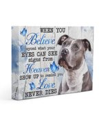 Pitbull Dog Love Never Dies Gift For Dog Lovers Matte Canvas