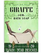 Giraffe Co Bath Soap Wash You Hooves Gift For Giraffe Lovers Vertical Poster