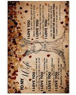 Love Tree Most Of All I Love You Gift For Wife Vertical Poster