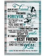 Here Together Friends Forever Gift For Best Friend Vertical Poster