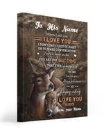 My Happiness Everyday Deer Custom Name Gift For Husband Matte Canvas
