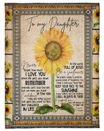 Sunflowers Mom Gift For Daughter How Much I Love You Fleece Blanket