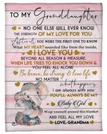 Always Be My Baby Girl Elephant Grandma Gift For Granddaughter Fleece Blanket