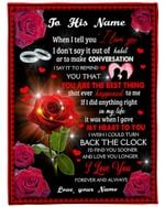 Red Rose Silver Rings You Are The Best Thing Custom Name Gift For Husband Fleece Blanket