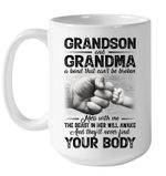 Can't Be Broken Grandma And Grandson Mug