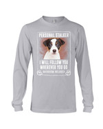 Jack Russell Terrier Personal Stalker St. Patrick's Day Printed Unisex Long Sleeve