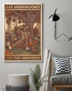 Bigfoot Sitting Beneath Tree Eat Mushrooms See The Universe Vertical Poster