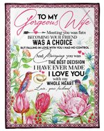 Meeting You Was Fate Protea Gift For Wife Fleece Blanket
