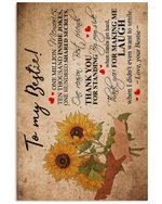 Sunflower Thank For Making Me Laugh Gift For Bestie Vertical Poster