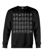 Ukulele Chords Black And White Special Gift For Ukulele Players Sweatshirt