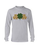 Three Shamrock Pattern Happy St Patrick's Day Unisex Long Sleeve