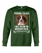 German Wirehaired Pointer Personal Stalker St. Patrick's Day Printed Sweatshirt
