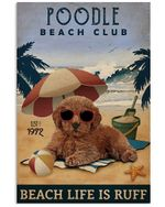 Vintage Beach Club Is Ruff Poodle Gift For Dog Lovers Vertical Poster