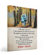 Love You For The Rest Of Mine Autumn Custom Name Gift For Husband Matte Canvas