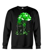 Tiny Black Pomeranian Spitz Patrick Balloons St. Patrick's Day Color Changing Sweatshirt