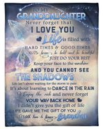 The Gift Of You Great Universe Grandpa Gift For Granddaughter Fleece Blanket