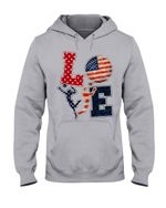 Love Football American Flag Gift For Football Players Hoodie