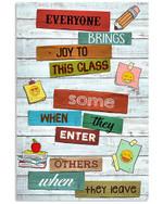 Teacher Everyone Brings Joy To Class Pencil Pattern Vertical Poster