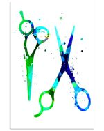 Meaningful Gift For Hairstylist Watercolor Scissors Vertical Poster