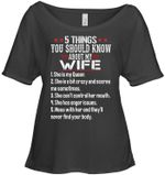 Gift For Family 5 Things About My Wife Ladies Tee