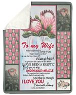 Protea Never Forget I Love You Gift For Wife Sherpa Fleece Blanket