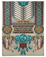 Native American Pattern Life Gave Me The Gift Of You Gift For Daughter In Law Fleece Blanket