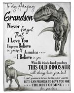 Nana Gift For Grandson T Rex The Rest Of Mine Fleece Blanket
