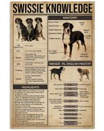 Swissie Knowledge Meaningful Gift For Dog Lovers Vertical Poster