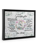 Nanny Gift For Granddaughter Elephant I'll Stay There Framed Matte Canvas