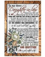 Protea Gift For Daughter In Law Welcome You Into Our Family With Love Vertical Poster