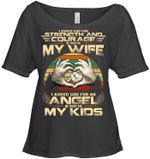 I Asked God For An Angel Gift For Family Ladies Tee