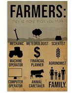 Farmers They're More Than You Think Vintage Design Vertical Poster