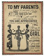 Daughter Gift For Parents You Are Appreciated Fleece Blanket
