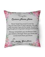 Custom Name Gift For Family Even If You Are Far Away Pillow Cover