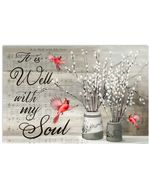 It Is Well With My Soul Red Cardinals Spirit Animal Horizontal Poster