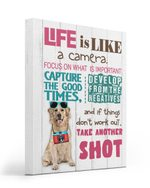 Labrador Life Is A Camera Gift For Dog Lovers Matte Canvas