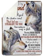 Wolf God Blessed The Broken Road Gift For Husband Sherpa Fleece Blanket