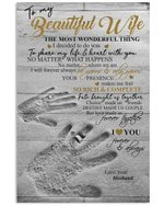 Finger Printed The Most Wonderful Thing Gift For Wife Vertical Poster