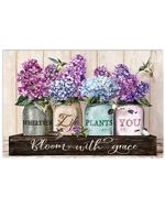 Pallet Hummingbird Bloom With Grace Horizontal Poster