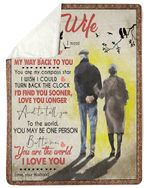 The Old You Are The World Gift For Wife Sherpa Fleece Blanket