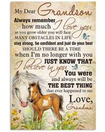 Horse Grandma Gift For Grandson Always Be The Best Thing Vertical Poster