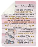 Always Be My Baby Girl Elephant Grandma Gift For Granddaughter Sherpa Fleece Blanket