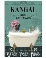 Cute Kangal Co Bath Soap Wash You Paws Gift For Dog Lovers Vertical Poster