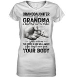 Granddaughter And Grandma Mess With Me Gift For Family Ladies V-neck