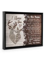 Want To Last Forever Deer Custom Name Gift For Husband Framed Matte Canvas