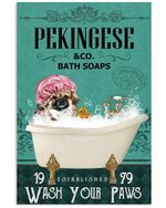 Green Bath Soap Company Pekingese Gift For Dog Lovers Vertical Poster