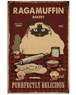Ragamuffin And Baking Ragdoll Cat Gift For Cat Lovers Vertical Poster