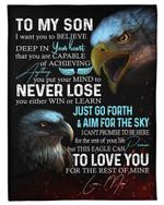 The Rest Of Mine Eagle Mom Gift For Son Fleece Blanket