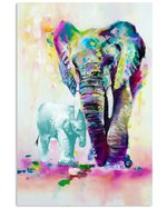 Colorful Elephant Autism Awareness Gift For Autism Son Vertical Poster