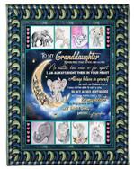 Grandma Gift For Granddaughter Elephant Always Be My Baby Girl Fleece Blanket
